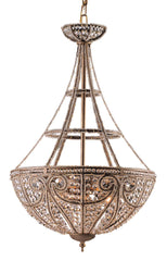 5965/4 Elizabethan 4-Light Pendant in Dark Bronze w/Crystal ELK Lighting