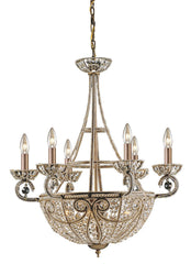 5967/6+4 Elizabethan 10-Light Chandelier in Dark Bronze w/Crystal ELK Lighting