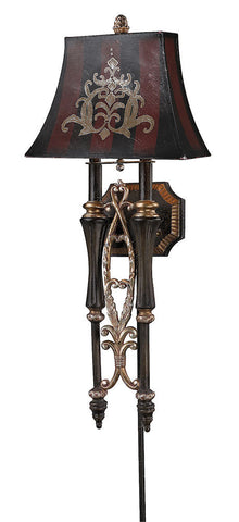 26000/2 Double Torch 2-Light Sconce in Dark Rust ELK Lighting