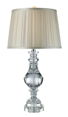D1812 Donaldson 1-Light Table Lamp in Chrome with Crystal ELK Lighting