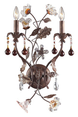 7043/2 Cristallo Fiore 2-Light Sconce w/Crystal & Glass Florets ELK Lighting