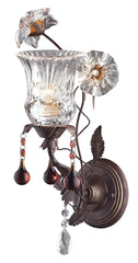 7050/1 Cristallo Fiore 1-Light Sconce w/Crystal & Glass Florets ELK Lighting
