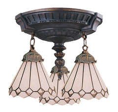 997-AW-04 Clear Diamond Mix-N-Match 3-Lite Tiffany-Style Semi Flush ELK Lighting