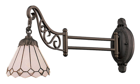 079-TB-04 Clear Diamond Mix-N-Match 1-Light Tiffany-Style Sconce ELK Lighting