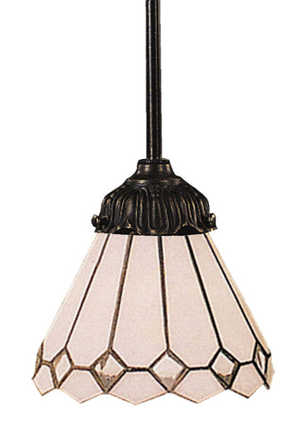 078-TB-04 Clear Diamond Mix-N-Match 1-Light Tiffany-Style Pendant ELK Lighting