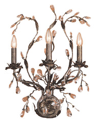 8050/3 Circeo 3-Light Sconce in Deep Rust with Crystal ELK Lighting