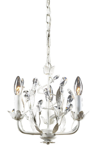 18112/3 Circeo 3-Light Chandelier in Antique White with Crystal ELK Lighting