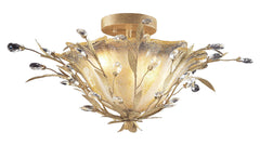8069/2 Circeo 2-Light Semi Flush in Russet Beige with Crystal ELK Lighting