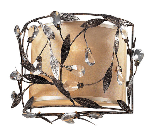 18130/2 Circeo 2-Light Sconce in Deep Rust with Crystal ELK Lighting