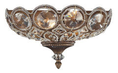12023/2 Christina 2-Light Sconce in Mocha with Clear Crystal ELK Lighting