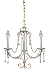 413-AS Cambridge 3-Light Chandelier in Antique Silver w/Crystal ELK Lighting