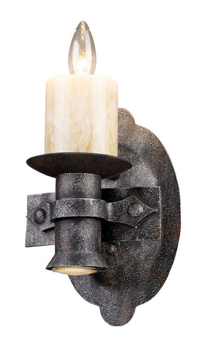 14000/1+1 Cambridge 2-Light Sconce Moonlit Rust w/Stone Covers ELK Lighting