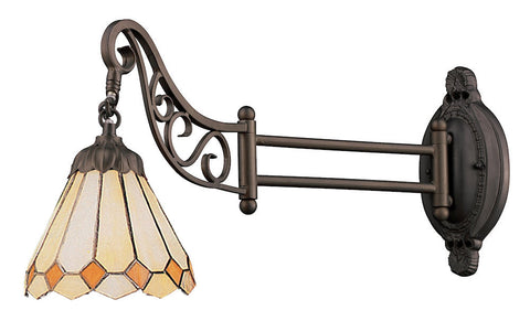 079-TB-05 Amber Diamond Mix-N-Match 1-Light Tiffany-Style Sconce ELK Lighting