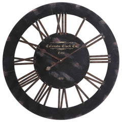 40118 Elko Extra Large Round Wall Clock by Cooper Classics | 27 inches
