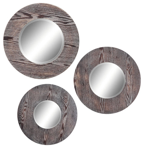 40132 Hinkley Set of 3 Large Round Wall Mirrors by Cooper Classics