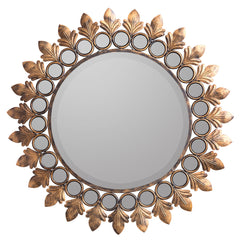 40275 Lana Oversized Round Wall Mirror by Cooper Classics | 31 inches
