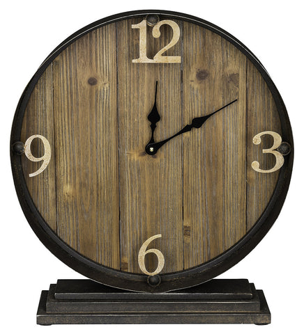 40665 Horlbeck Large Round Table Clock by Cooper Classics | 17 x 18.5 inches