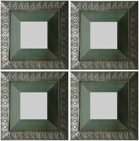 40693 Ben Set of 4 Square Medium Wall Mirrors by Cooper Classics
