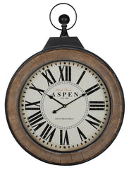 40924 Aspen Oversized Round Wall Clock by Cooper Classics