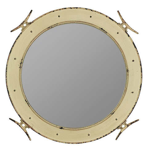 41008 Nautical Extra Large Round Wall Mirror by Cooper Classics | 27 inches