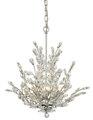 45262/6 Crystique 6-Light Chandelier In Polished Chrome by ELK Lighting