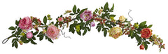 4539 Mixed Peony & Berry Artificial Silk Garland by Nearly Natural | 60""