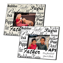 GC471 Dad in Translation in 2 Colors | Personalized Picture Frame 4x6 Photo