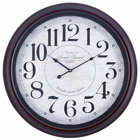4818 Calhoun Large Round Wall Clock by Cooper Classics | 24 inches