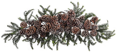 4886 Iced Pine Cone Artificial Holiday Swag by Nearly Natural | 28 inches