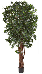 5451 Lychee Artificial Tree with Planter by Nearly Natural | 90 inches