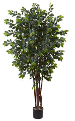 5452 Sakaki Artificial Silk Tree with Planter by Nearly Natural | 84 inches