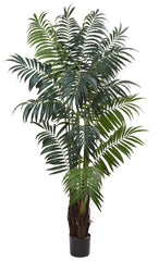 5454 Bulb Areca Palm Silk Tree with Planter by Nearly Natural | 90 inches