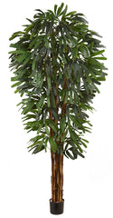 5456 Rhapis Palm Artificial Tree with Planter by Nearly Natural | 84 inches