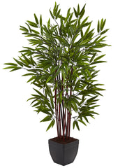 5457 Bamboo Artificial Tree with Planter by Nearly Natural | 48 inches