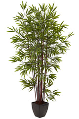 5459 Bamboo Artificial Tree with Planter by Nearly Natural | 72 inches