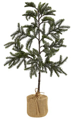 5467 Iced Pine Silk Christmas Tree with Planter by Nearly Natural | 36""