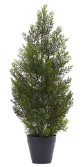 5469 Cedar & Pine Indoor Outdoor Silk Cone Topiary by Nearly Natural | 24""