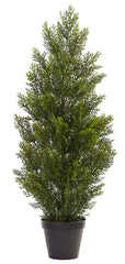 5470 Cedar & Pine Indoor Outdoor Silk Cone Topiary by Nearly Natural | 36""