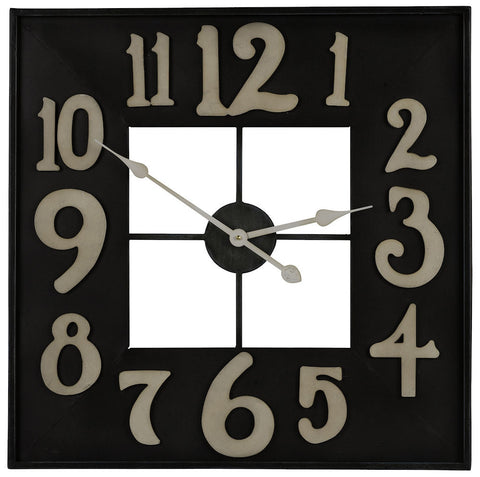 40434 Brazos Large Square Wall Clock by Cooper Classics