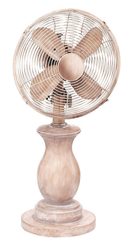 DOH2983 Serene 10 inch Decorative Oscillating Table Desk Fan by Deco Breeze