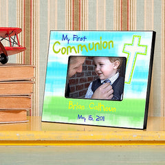 GC781 Bright Blessings First Communion in 9 Designs | Personalized Picture Frame 4x6 Photo