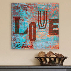 CA0001 Graffiti Style Love Print on Canvas | Personalized Wall Art 14x14 by JDS Marketing