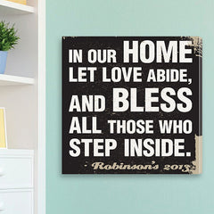 CA0003 Aged Design Home Prayer Print on Canvas | Personalized Wall Art 14x14 by JDS Marketing