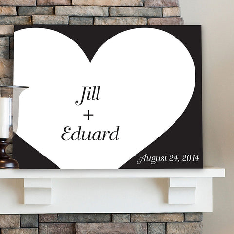 CA0043 Signature Shadow of Love Print on Canvas | Personalized Wall Art 24x18 by JDS Marketing