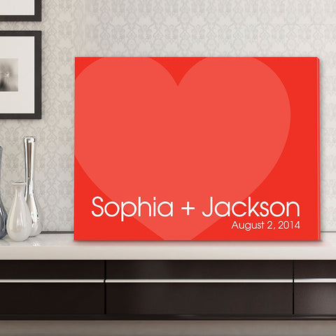CA0044 Signature Love Forever Print on Canvas | Personalized Wall Art 24x18 by JDS Marketing