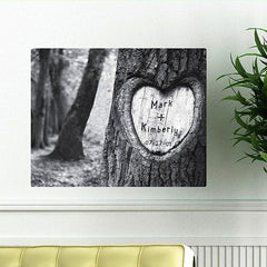 CA0084 Tree of Love Print on Canvas | Personalized Wall Art 24x18 by JDS Marketing