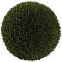 6809 Cedar Indoor Outdoor Silk Ball Topiary Plant by Nearly Natural | 19""