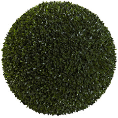 6810 Boxwood Indoor Outdoor Silk Ball Topiary Plant by Nearly Natural | 19""