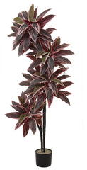 6816 Caladium Silk Tree with Nursery Planter by Nearly Natural | 54 inches