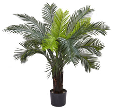 6817 Cycas Indoor Outdoor Silk Plant with Planter by Nearly Natural | 40""